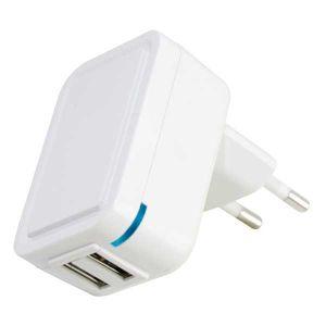 ALIMEN. SWITCH. 2 USB 2,1A 5V, 100/240Vac Colore BIANCO, PVC BOX - cod. 41.5SU22