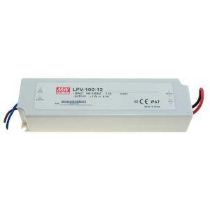 ALIMENTATORE SWITC. IP67 12V 8,50A 102W INPUT 230 Vac, 190x52x37mm MW - cod. 41.ASP210012