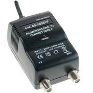Alimentatore TV SWITCHING 1 USCITA 300mA Connettori F, con ERP e spia LED - cod. 60.10301F