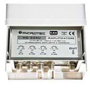 Amplificatore Schermato 1 in.VHF 32dB - 1 in.c21~40 32dB - 1 in c41~60 28dB - 1 in.c21~60 32dB, LTE - cod. 60.11341N