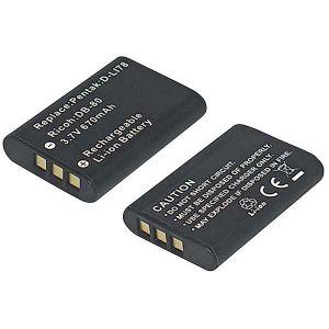 Batteria telecamera Litio 3,7V 0,57Ah per EN-EL11, DB-80 38.20x26.82x7.34mm NIKON/RICOH COMPA. - cod. 74.0650606