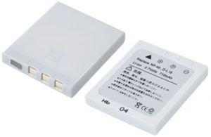 Batteria telecamera Litio 3,7V 0,71Ah per NP-40 40.28x35.28x6.10mm FUJIFILM COMPATIBLE - cod. 74.0660407