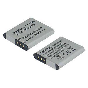 Batteria telecamera Litio 3,7V 0,70Ah per LI-50B 40.50X34.26x6.85mm OLYMPUS COMPATIBLE - cod. 74.0670109