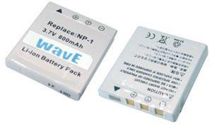 Batteria telecamera Litio 3,7V 0,70Ah per NP-1 40.12x35.80x6,20mm KONICA COMPATIBLE - cod. 74.06D0108