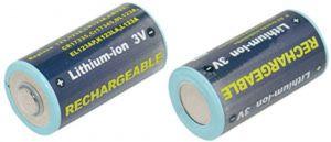 Batteria telecamera Litio 3,0V 0,50Ah per CR123A 123/123A/CR17335/CR17345/DL123A/K123LA - cod. 74.06Z2306