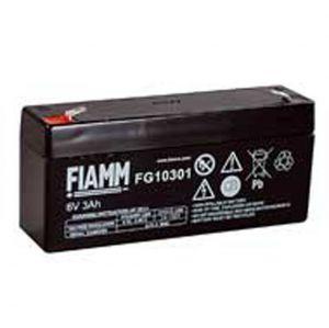 BATT. AL PIOMBO  6V  3,0Ah FIAMM H=60mm FG10301 - cod. 74.0906030