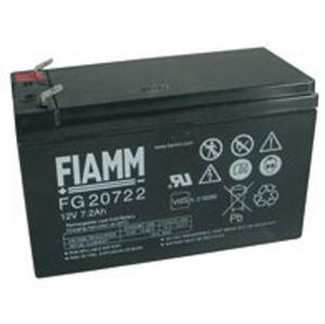 BATT. AL PIOMBO 12V  7,2Ah FASTON 6,3mm FIAMM FG20722 - cod. 74.0912071