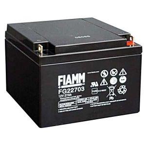BATT. AL PIOMBO 12V  27 Ah FIAMM CYCLIC USE FGC22703 - cod. 74.09C12240