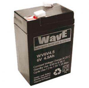 BATT. AL PIOMBO  6V  4,5Ah WAVE - cod. 74.1006040