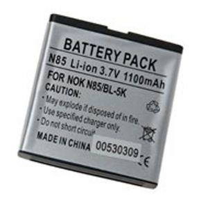 Batteria Litio 1100mAh 5.50mm per Nokia BL-5K N85, N86 - cod. LEN85.BLSS1