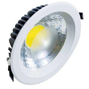 FARETTO LED FLOOD DA INCASSO 35W, 90°, 3000K, LM2900, RA>80, COB GENESIS, 225x63mm (foro D.205mm) - cod. 39.9TS052335C